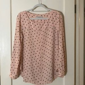 Ann Taylor LOFT Peach Long Sleeve Top